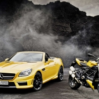 Mercedes Benz Slk Amg Ducati Streetfighter Hd Wallpapers