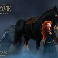 Merida Amp Angus In Brave Wallpapers