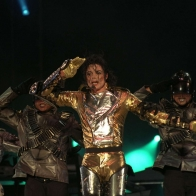 Michael Jackson In Golden Suit Wallpaper