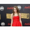Miley Cyrus American Music Awards 2007 Red Dress Wallpaper