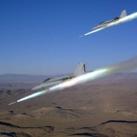 Military Jets Firing Missles Wallpaper