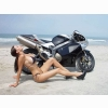 Model Bike Beach Wallpaper