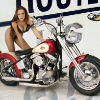Model With Bike Wallpaper