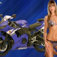 Model With Yamaha Wallpaper