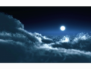 Moon Over Clouds Wallpapers