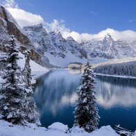Moraine Lake In Winter Canada Wallpapers