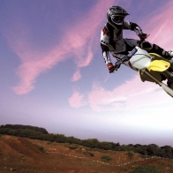 Motocross Bike In Sky Wallpapers
