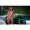 Motorbike And Hot Babe Wallpaper