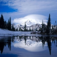 Mount Rainier Reflected Tipsoo Lake
