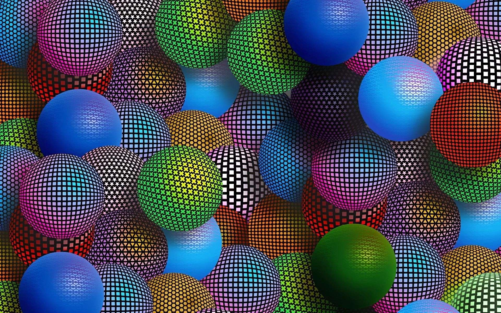 Multi Colored Patterned Spheres Hd Wallpapers