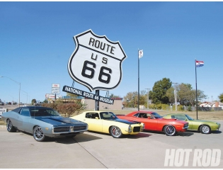 Muscle On Route 66 Wallpaper