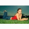 Natalie Portman On The Grass Wallpaper