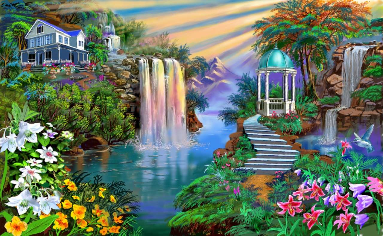Nature Waterfall Hd Wallpapers 7 : Hd Wallpapers Nature Painting Wallpaper Hd