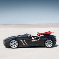 New Bmw Designed Car In Desert Wallpaper