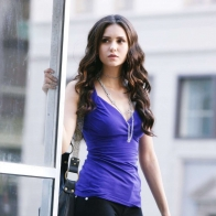 Nina Dobrev Blue Wallpaper