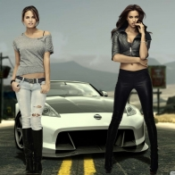 Nissan And Hot Girls Wallpaper