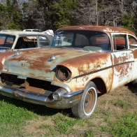Old Chevy At The Little Valley Auto Ranch Belton Texas Wallpaper