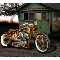 Old Motorcycle Wallpaper