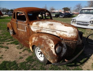 Old Rod At The Little Valley Auto Ranch Wallpaper