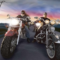 Oldschool Choppers Wallpaper