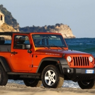 Orange Jeep Wallpaper
