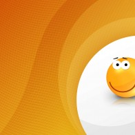 Orange Smiley Wallpapers