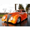 Orange Street Rod Wallpaper