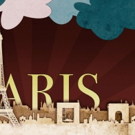 Paris Scrap Art Wallpapers