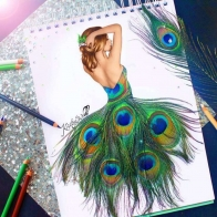 Peacock Art Design 1 Hd Wallpapers