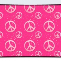 Pink Peace Signs Cover