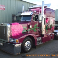 Pink Rose Peterbilt Wallpaper