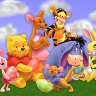 Pooh Friends Wallpaper