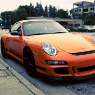 Porsche Gt3 Rs Orange Hd Wallpapers