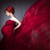 Pregnant Woman Modeling Wallpaper