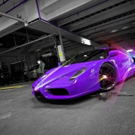 Purple Concept Car Wallpaper