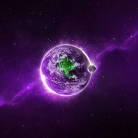 Purple Earth Wallpapers