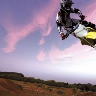 Purple Sky Motorcross Wallpaper