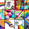 Download rainbow collage cover, rainbow collage cover  Wallpaper download for Desktop, PC, Laptop. rainbow collage cover HD Wallpapers, High Definition Quality Wallpapers of rainbow collage cover.