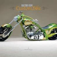 Razor Gun Custom Bike Wallpaper