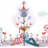 Reading Love Letter Wallpaper