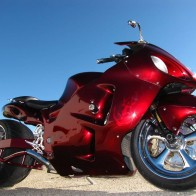 Red Motorbike Hd Wallpaper