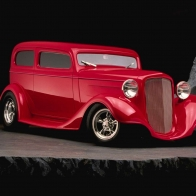 Red Street Rod Wallpaper