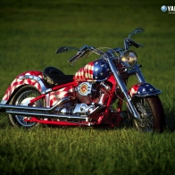 Red White And Blue Chopper Wallpaper