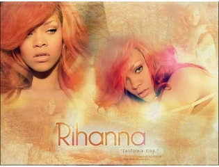 Rihanna California King Bed Wallpaper