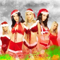 Santa Christmas Girls Wallpapers