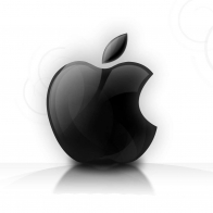 Shining Glassy Apple Logo Wallpapers