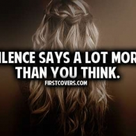 Silence Says A Lot Cover