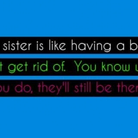 Sister Quote Cover