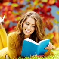 Smile Woman Book Reading Wallpapers