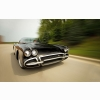 Speeding Chevrolet Corvette Wallpaper